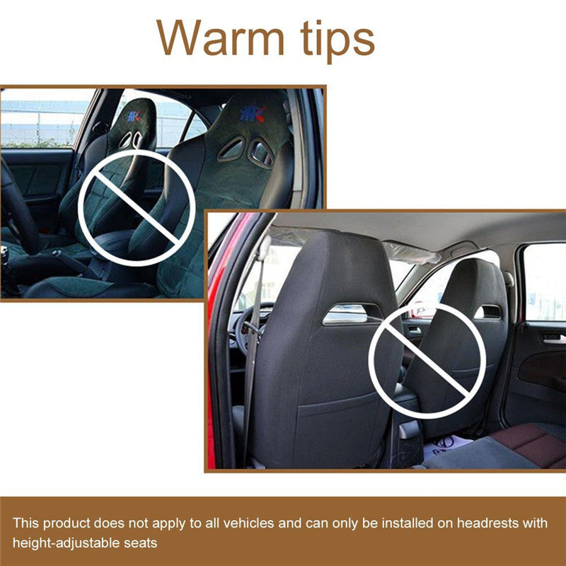 Auto Car Seat Headrest Neck Pillow Safety Support Travel Rest