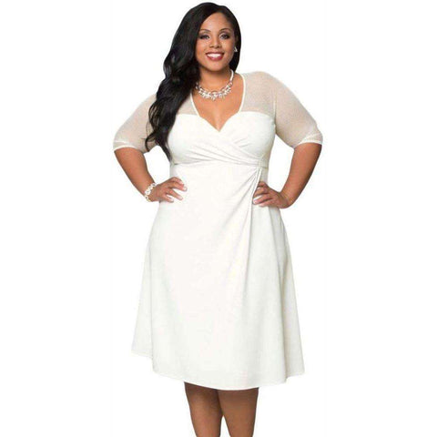 Image of Dear Lover Plus Size XXL Women Fashion Half Sleeve Work - AMAZOFFER