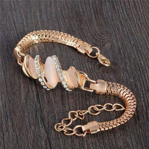 Free Shipping 1pc Women Gold Filled Shine Austrian Crystal Bracelets & Bangles Women - AMAZOFFER