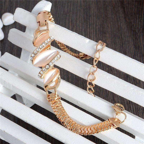 Image of Free Shipping 1pc Women Gold Filled Shine Austrian Crystal Bracelets & Bangles Women - AMAZOFFER