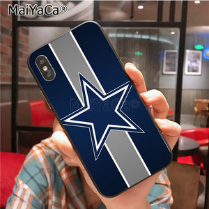 Cowboys Glitter Painted cover Colourful Style Design Case for iPhone X 8plus 7 6splus 5s se 5c 7plus case Cover