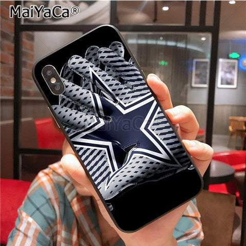 Cowboys Glitter Painted cover Colourful Style Design Case for iPhone X 8plus 7 6splus 5s se 5c 7plus case Cover - AMAZOFFER