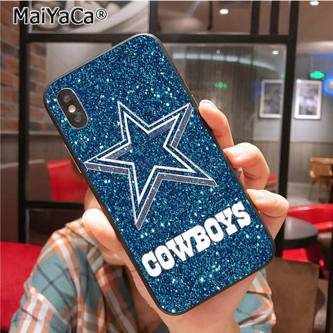 Image of Cowboys Glitter Painted cover Colourful Style Design Case for iPhone X 8plus 7 6splus 5s se 5c 7plus case Cover - AMAZOFFER
