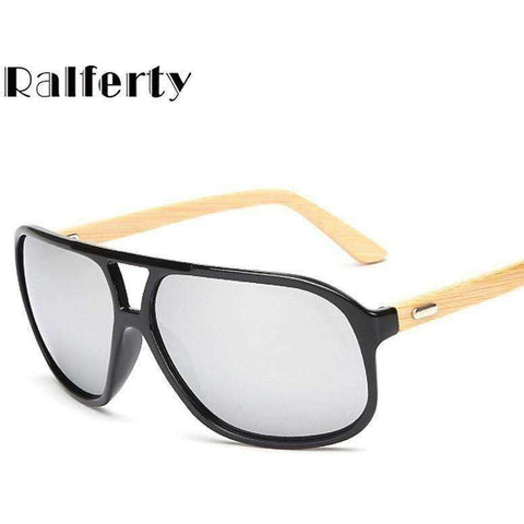 Vintage Mens Wood Sunglasses Brand Designer Bamboo Sun Glasses For Men - AMAZOFFER