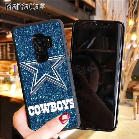 Image of Cowboys Glitter soft tpu phone case cover for samsung galaxy s8plus s9plus s7 s6 edge plus s5 case - AMAZOFFER