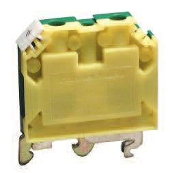 """Altech Corp. CGT10U Conn; Term Blk; DIN Rail; Ground; ScrewCage; 10mm; (35, 32) mm; Green/Yellow"""