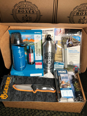 JUNE 2018 SURVIVAL BOX - GEAR ONLY XL - WATER FILTRATION & TREATMENT FOR SURVIVAL