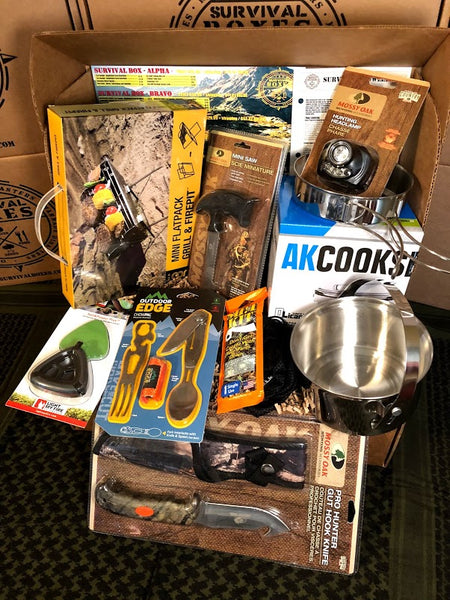 MAY 2018 SURVIVAL BOX – GEAR ONLY XL - OUTDOOR ADVENTURE AND COOKING GEAR FOR SURVIVAL