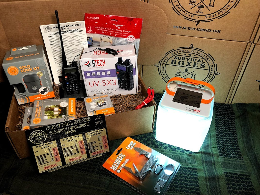 JANUARY 2018  SURVIVAL BOX - GEAR ONLY XL-  POWER OUTAGE / GRID DOWN SURVIVAL