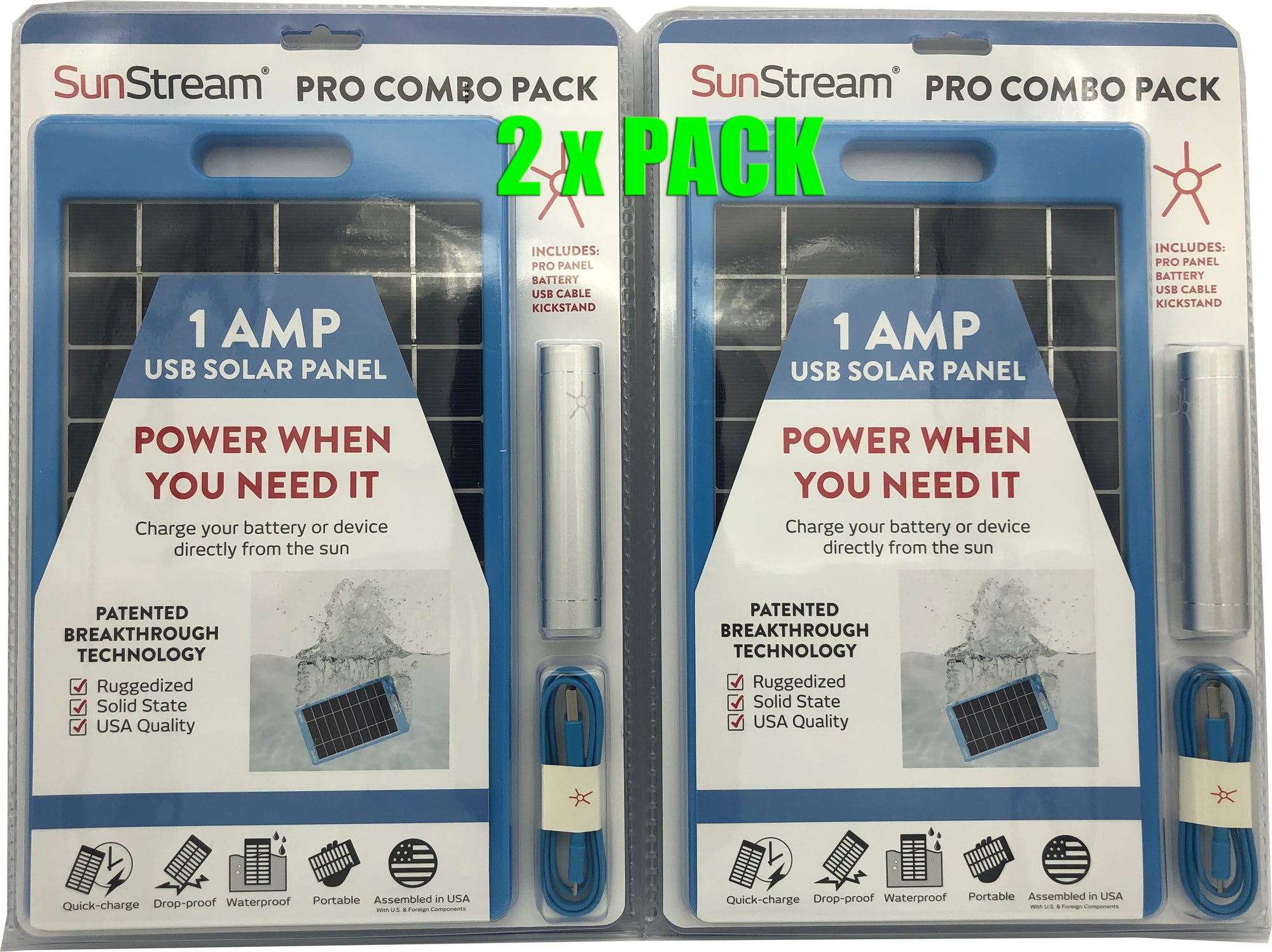 SunStream PRO COMBO PACK (Blue) 2 Pack