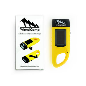 PRIMAL CAMP SOLAR POWERED DYNAMO FLASHLIGHT