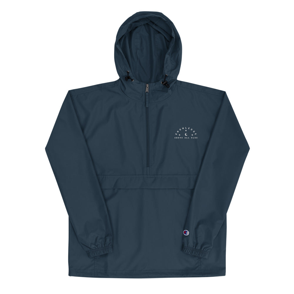 Knowledge Above All Embroidered Champion Packable Jacket