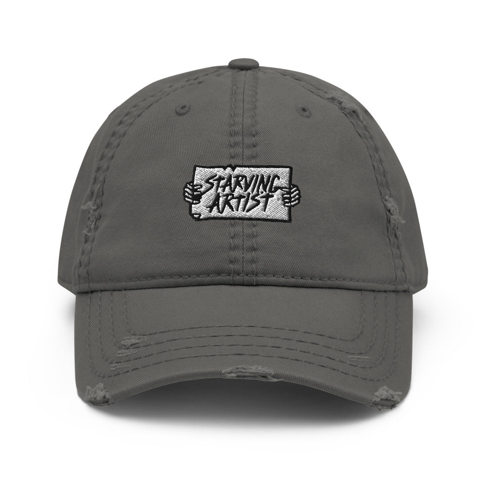 Starving Artist Distressed Dad Hat