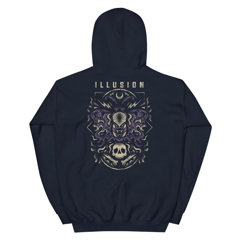 Yellow-haired Dagger Moth Hoodie - Illusions Clothing