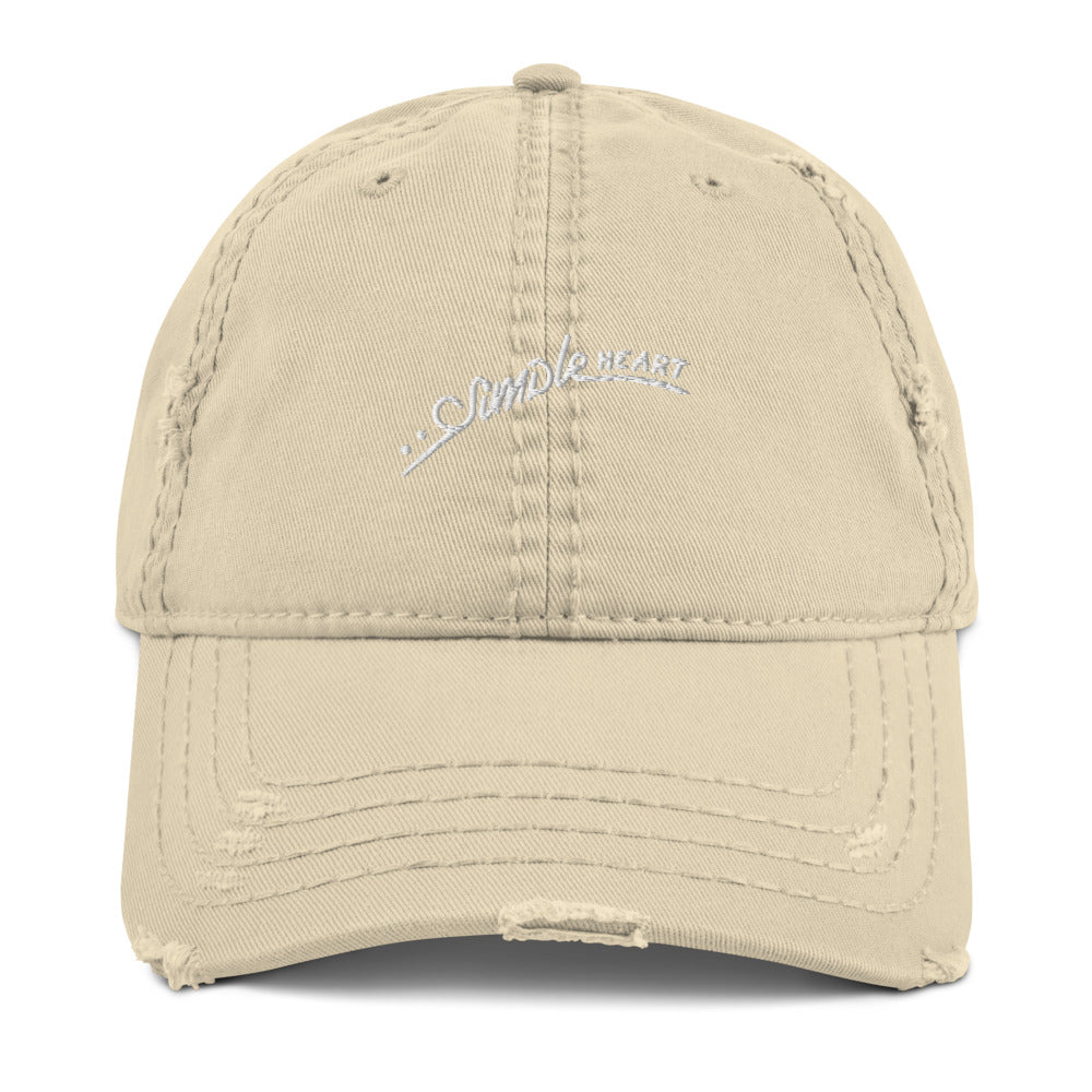 Simple Heart Distressed Dad Hat