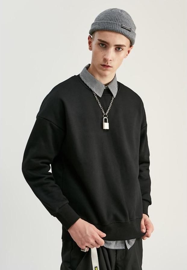 Solid Color Velvet Sweatshirt