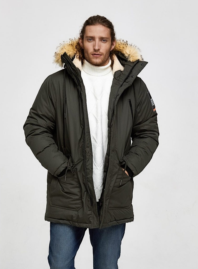 Oxford Fur Hooded Parka Jacket