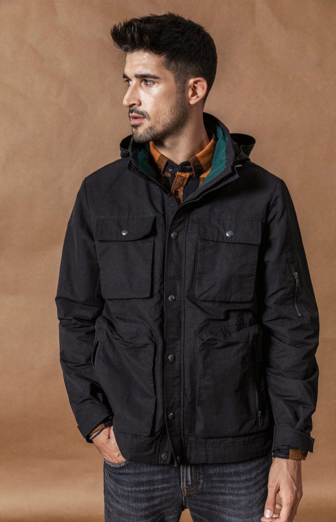 Contrast Hooded Field Jacket