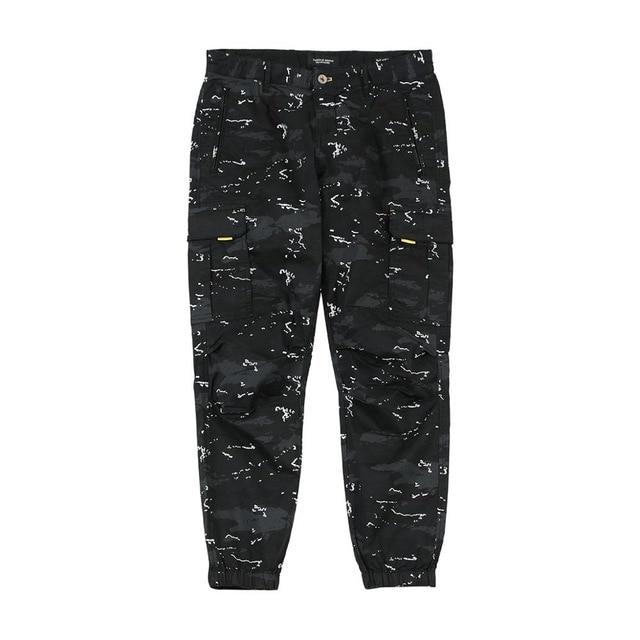Ankle Length Camo Tapered Cargo Pants