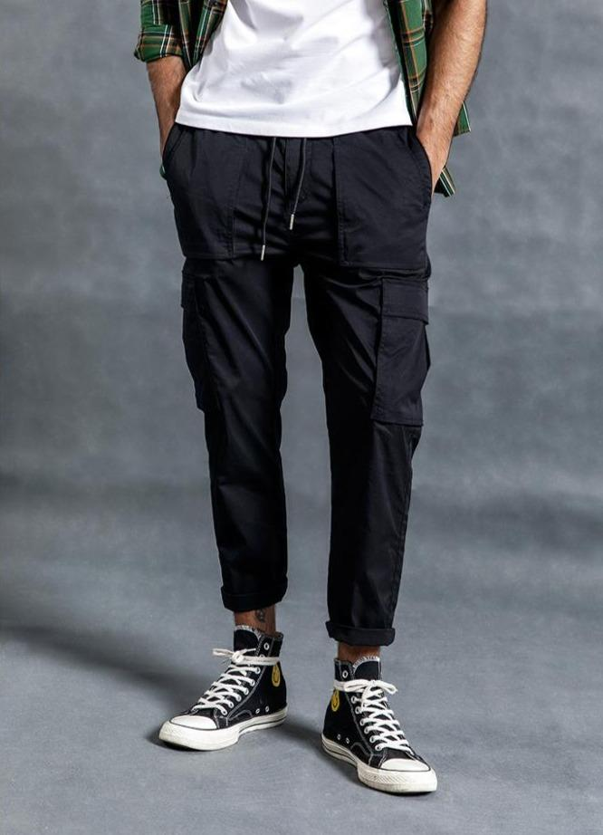 Thin Broadcloth Cargo Pants