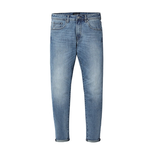 Light Stonewash Straight Legged Denim Jeans
