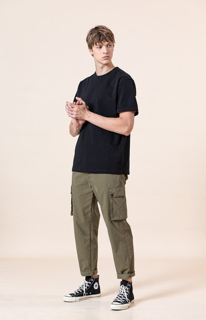 Multi-pocket Broadcloth Cargo Pants