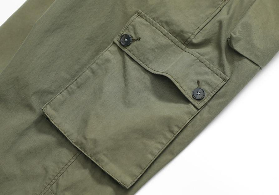 Multi-pocket Broadcloth Cargo Pants - Illusions Clothing