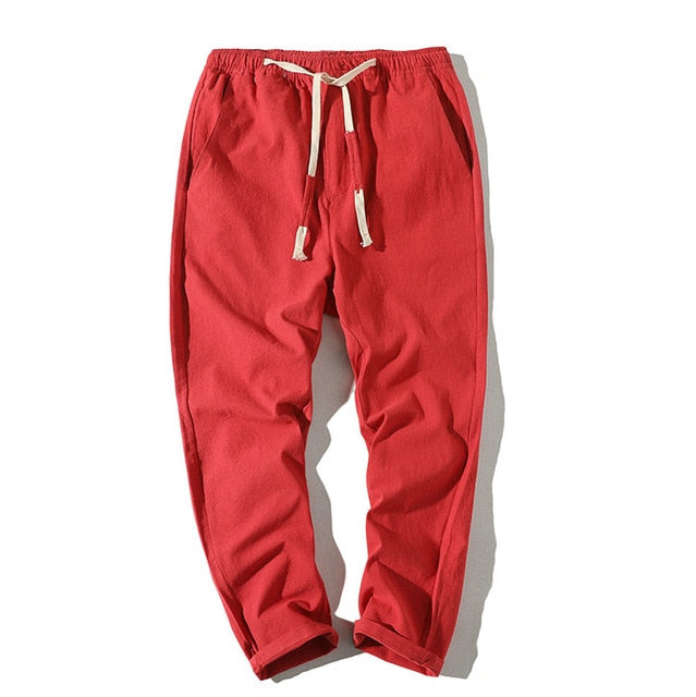Lightweight Ankle-Length Cotton Joggers