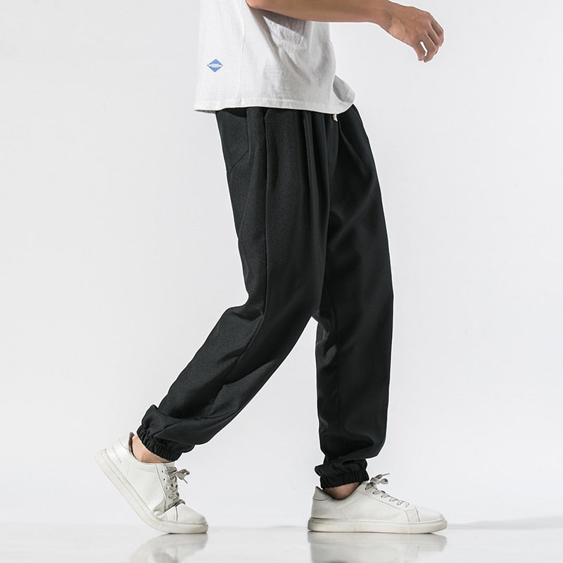 Lightweight Cotton Linen Harem Joggers