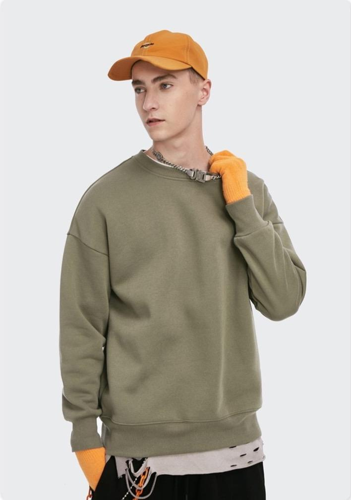 Thick Fleece Solid Color Sweatshirt