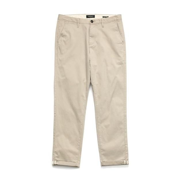 Slim Fit Cotton Chinos - Illusions Clothing