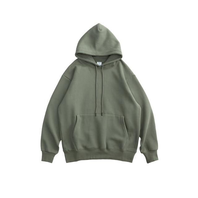 Solid Color Thick Fleece Hoodie - Illusions Clothing