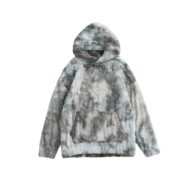 Winter Ice Tie Dye Fleece Hoodie