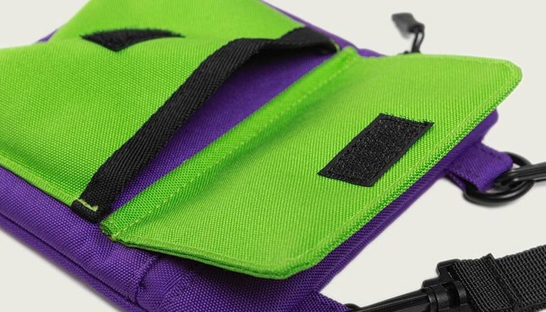 Candy Colored Canvas Crossbody Messenger Bag