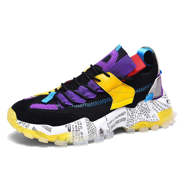 Black & Purple Printmaker 1.0 Sneakers