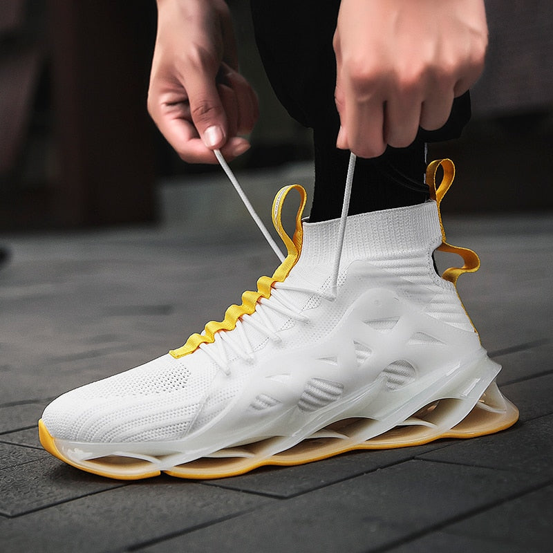White & Gold Colada 3.0 Sneakers