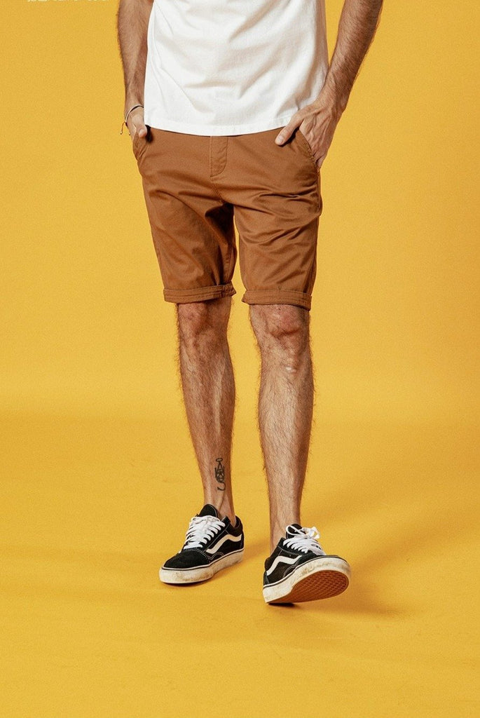 Solid Color Cotton Slim Fit Shorts