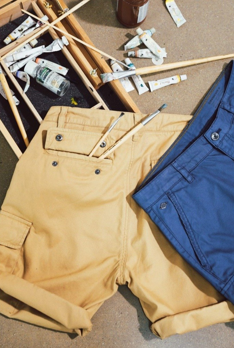Enzyme Washed Multi-Pocket Cargo Shorts - Illusions Clothing