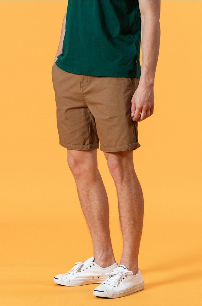 Solid Color Enzyme Washed Shorts