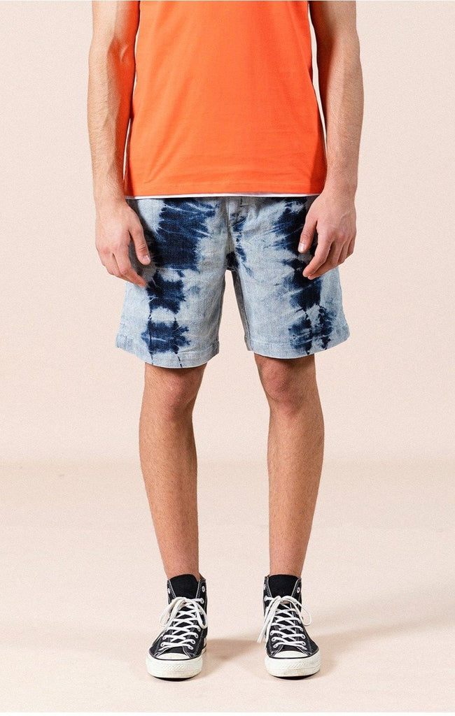 Denim Bamboo Tie-dyed Shorts