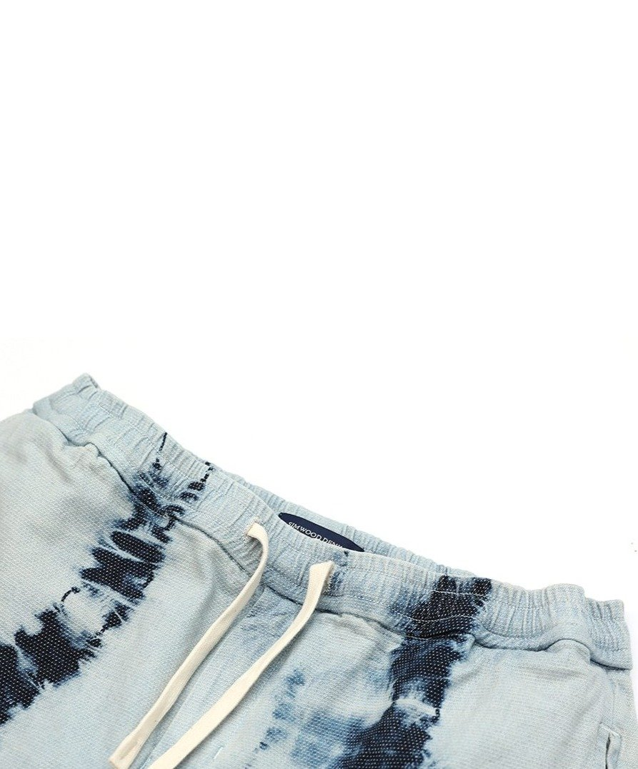 Denim Bamboo Tie-dyed Shorts - Illusions Clothing