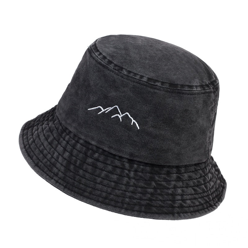 To The North Dark Grey Embroidered Bucket Hat