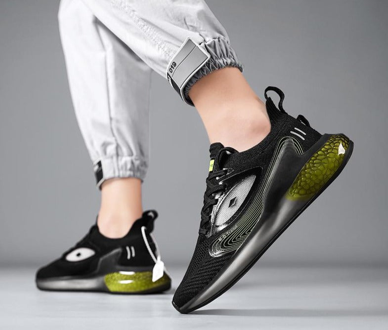 Black & Green Shallow Breeze 2.0 Sneakers