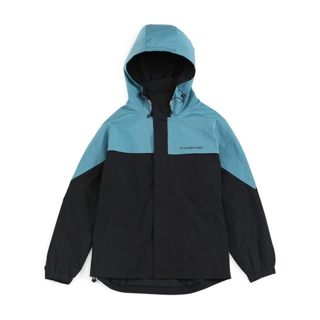 Dune Contrast Panel Shell Windbreaker