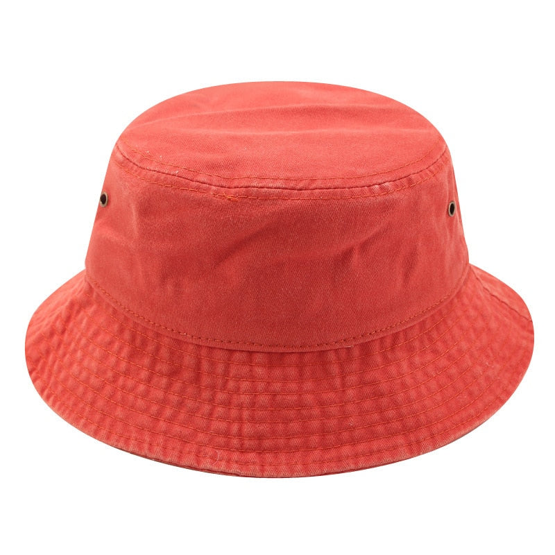 Orange Windproof Panama Fisherman's Hat
