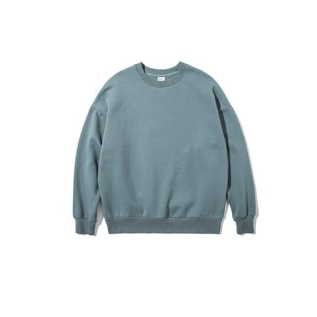 Solid Color Velvet Sweatshirt - Illusions Clothing