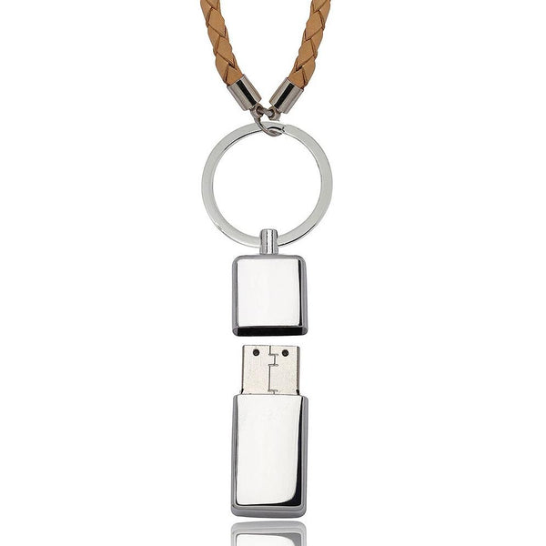 USB Key Chain (Light Brown Leather) - By Nordvik