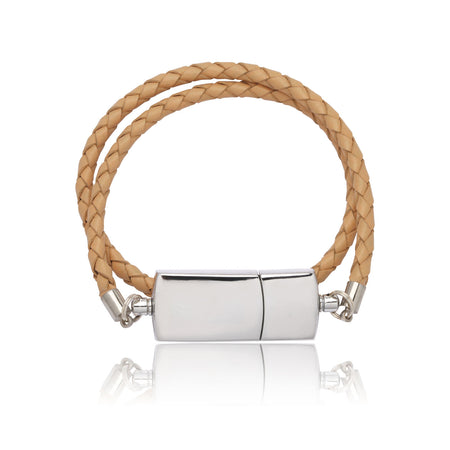 USB Bracelet (Brown Leather) - By Nordvik