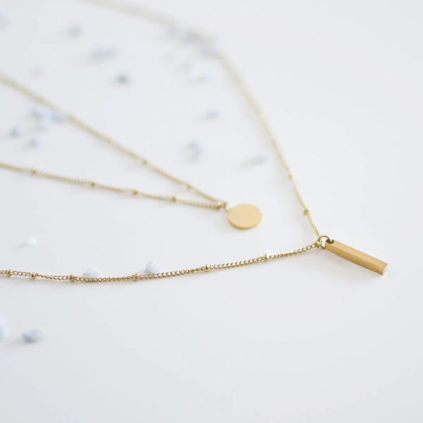 Layered Bar Necklace Delicate - By Nordvik