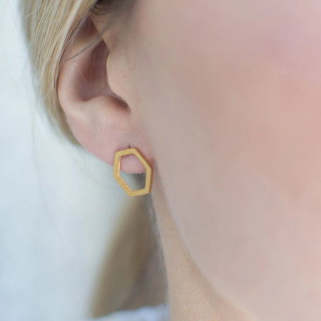 Geometric Stud Earrings Minimalist - By Nordvik